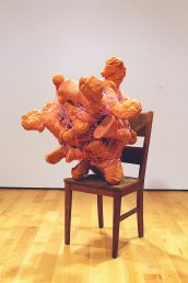"57""x 45""x43"", Clay, Chair, Thread, 2014"