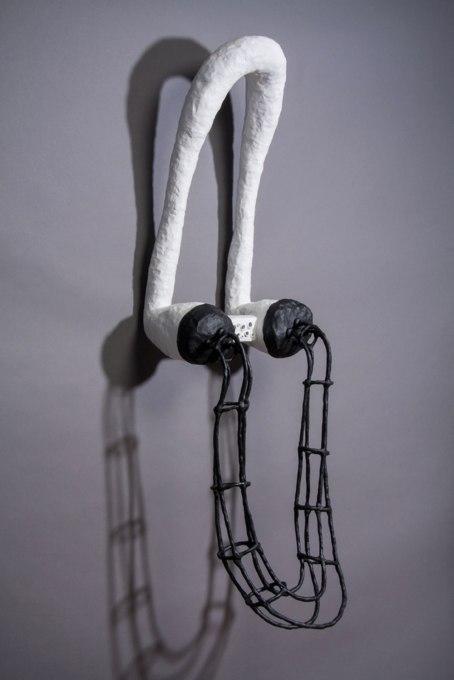 """epoxy clay, polystyrene, wire, 56""""h x 18""""w x 17""""d, 2013"""