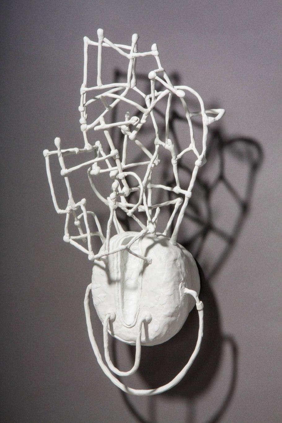 """epoxy clay, polystyrene, wire, 26""""h x 11""""w x 8""""d, 2012"""