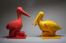 """Earthenware, Wood, Acrylic, 54""""x13""""x26"""", 2015"""