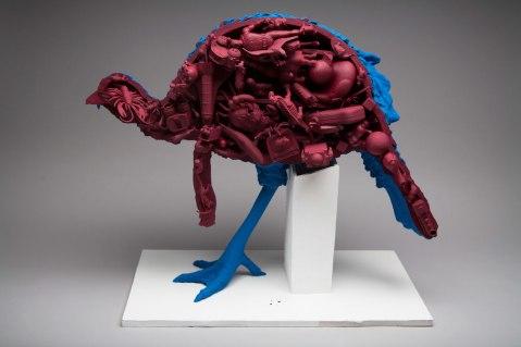 "Earthenware, Plastic toys, 25""x11""x20"", 2014"