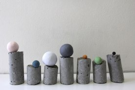 2017, Concrete, Stained Clay, 12x6x2