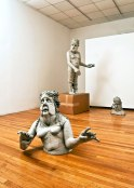 2012, Dimensions of space: 12'x20'x28', Dimensions of largest figure: 8'x2'x2', clay, house paint, cardboard, packing tape, epoxy, wood