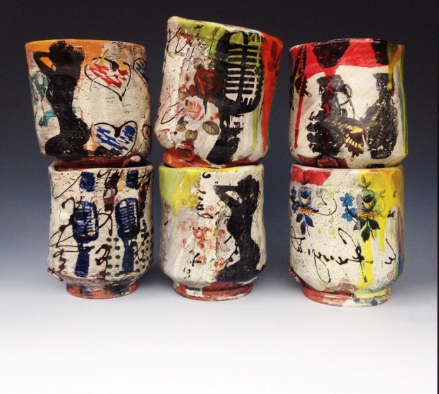 "Brock Flamion, ""Graffitiware Cups"""