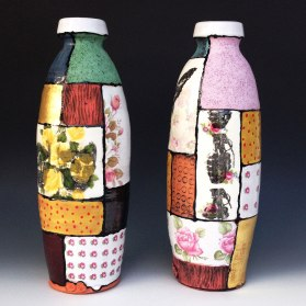 "Brock Flamion, ""Patchwork Bottles"""