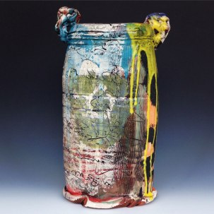 "Brock Flamion, ""Graffitiware Vessel"""