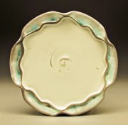 "Porcelain, Soda fired with Celadon glaze, 1""x10""x10'"