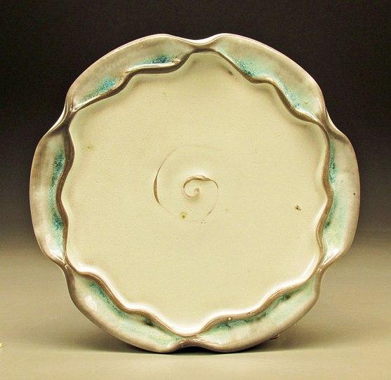 """Porcelain, Soda fired with Celadon glaze, 1""""x10""""x10'"""