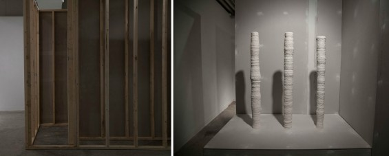 A proposed space and everything, Unfired Porcelain, Sheetrock, 2x4s, Spackle, dimensions varied, 2012