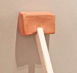 "(Detail), 2015, Slip Cast Ceramic, Stain, Wax, Paint, 24"" x 48"""