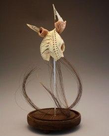 """Ceramic, Glaze, Wire, Pig Intestine, Wax, & Mixed Media, 22""""x10""""x10"""", 2012"""