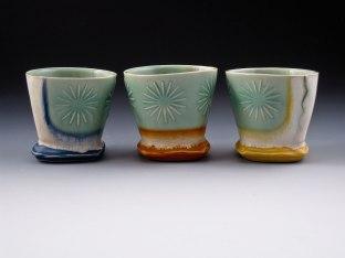 white stoneware, cone 6 oxidation, 3x3x3