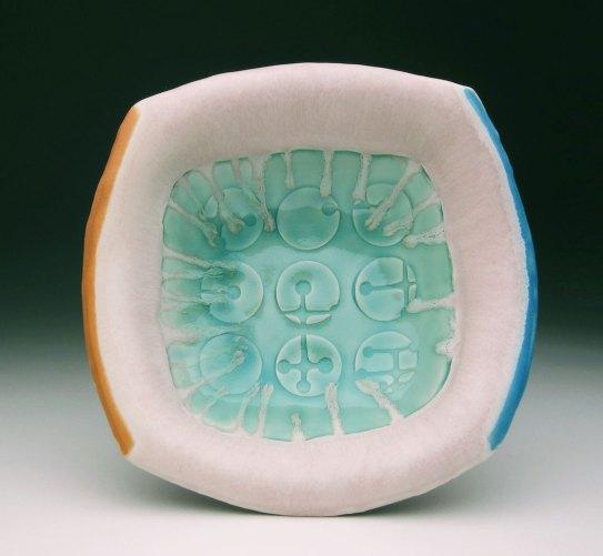 white stoneware, cone 6 oxidation,4x10x10