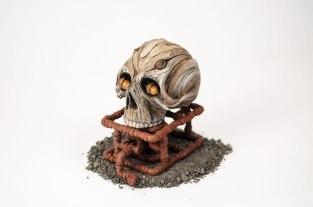 Ceramic, acrylic, iron oxide, 19cm x 19cm x 19cm, 2015