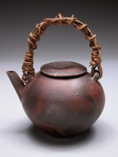 Teapot with Vine Handle