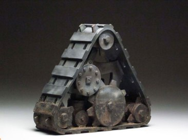 """2012, 15"""" x 9"""" x 9"""", Earthenware, and Glazes. Hand Built with press mold additions. Multiple firings."""