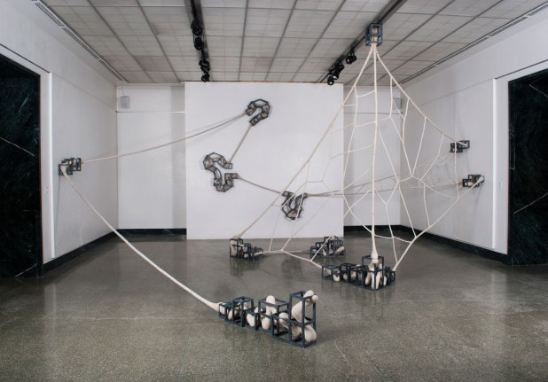 Ceramic, unfired clay, wire and glaze, 25' x 32' x 12', 2012