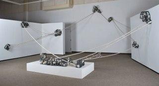 Ceramics, unfired clay, wire, glaze, 25' x 20' x 15', 2012