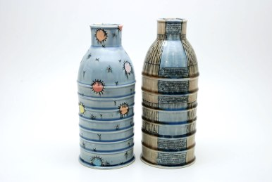 porcelain, glaze, inlaid black slip, cone 8, electric fired,2015