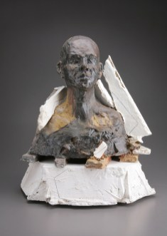 wood-fired stoneware, plaster and mixed media, 17x21x10, 24x20x11 in