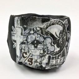 3 x 3.5 x 3.5, stoneware, porcelain slip, ash glaze, cone 10 reduction