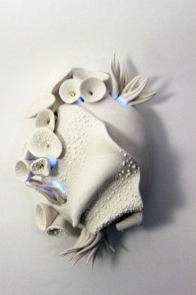 Frost Porcelain, underglaze, cone 6, 10 x 7 x 4.5 inches, 2016