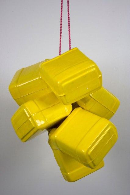 """cast and glazed ceramic, 6"""" x 5"""" x 3"""" each, 2013"""