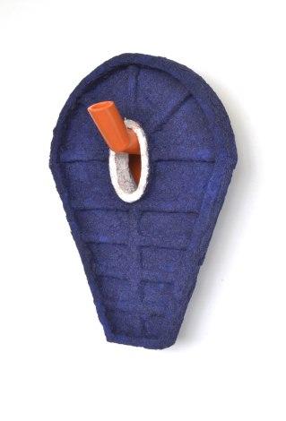 "Terra cotta clay and cone 06 glaze, 22"" X 15"" X 7"", 2014"