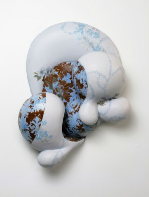 """18"""" x 8"""" x 6"""", Stoneware, commercial decals, 2009"""