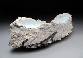 """Porcelain, Glaze, Wire, 5""""x14""""x4"""", 2012"""