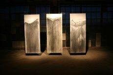 "Black Iron Oxide on Paper, 3pcs. each 6'6""x3', 2012"