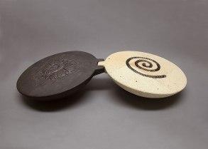 11x63x30 cm., stoneware, glaze, refractory bricks, metal, 2011
