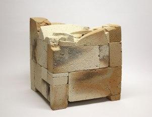 33x30x30 cm., refractory bricks, 2015