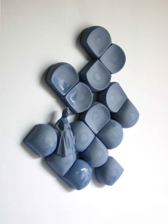 2011. Cobalt clay, clear glaze, slip-cast and assembled.34 x 26 x 5 cm. 1240°C oxidation.