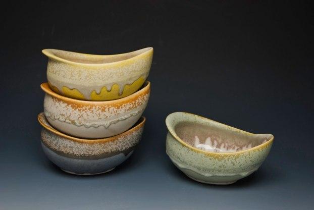 """cone six matte crystalline-glazed porcelain, 3"""" x 7"""" x 4"""""""