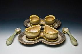 """cone six matte crystalline-glazed porcelain, 4"""" x 18"""" x 15"""""""