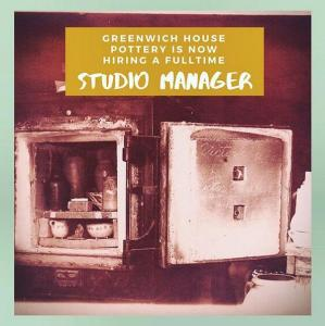 Greenwich House Pottery hiring Studio Manager