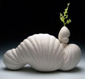 "2012, porcelain & glass, 16"" x 18"" x 8"""