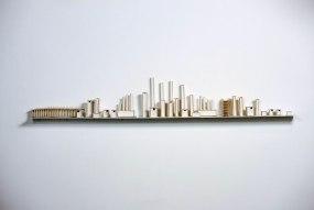 Dimensions: 23cm H X 200cm W, Material: Porcelain, Shelf: Metal