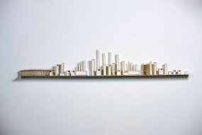 Dimensions: 23cm H X 200cm W, Material: Porcelain, Shelf: Metal