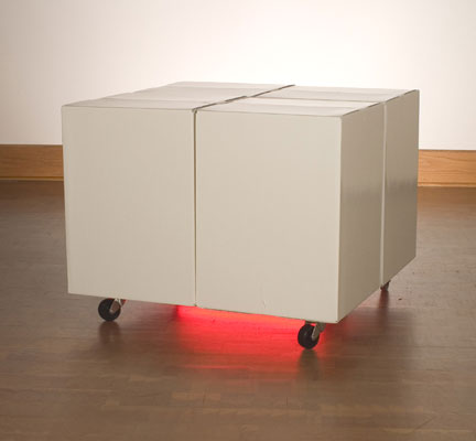 """neon, 18"""" x 24"""" x 3"""", 2008"""