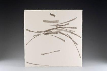 """Hexie IV, 2009, earthenware, glaze pencil, glaze, 20.5""""x20.5""""x2"""""""
