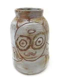 """War Crock (#har), ceramic, wood soda fired, 20x8x8"""", 2013"""