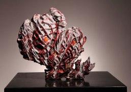 """Tunisia, 12""""h. x 13""""w. x 5""""d. Multi-fired ceramic. 2012"""