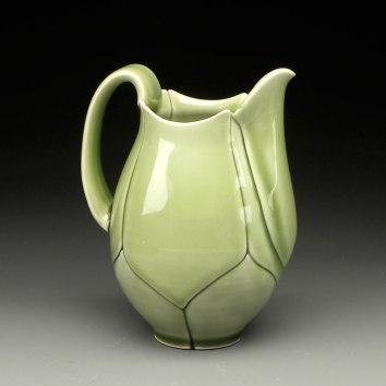 "Green Lotus pitcher, 2012, 6x4x4"""