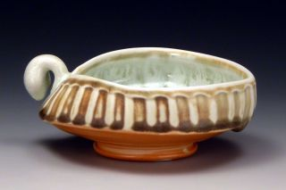 """Bowl, glazed and salted porcelain, 5"""" x 5"""" x 2.5"""", 2012"""