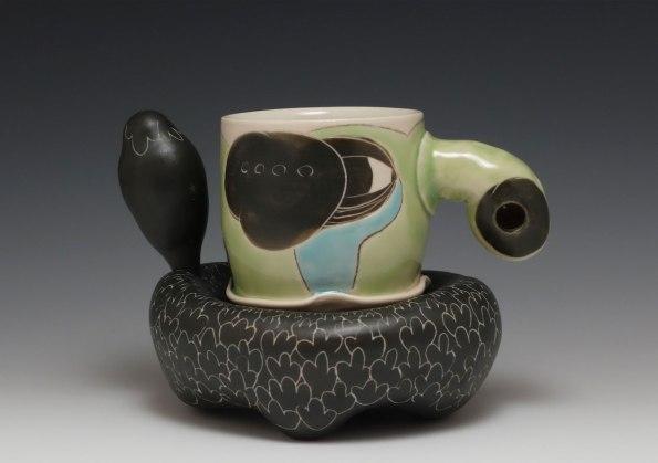 cone 6 porcelain, slip, terra sig., glaze 2016