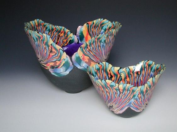 """Judith De Vries, """"Multicolour bowls"""""""
