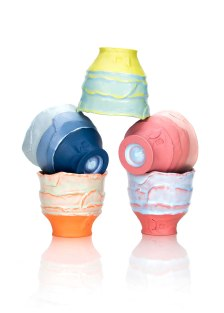 "Justin Donofrio, ""Yunomi Pyramid: Colored Porcelain"""
