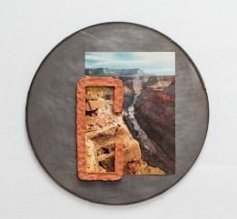 Terra cotta, found image, steel. 2017